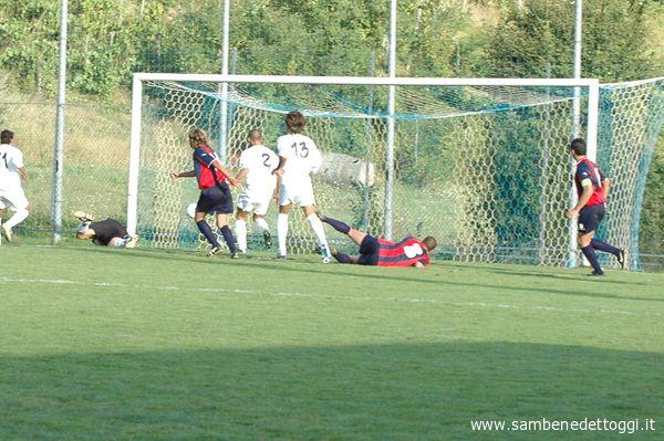 Samb-Sansovino. Il gol del 2-1 di Iovine